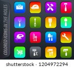 work tools colored icons in the ...   Shutterstock .eps vector #1204972294