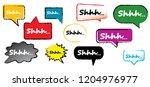 shhh silence icon signs vector... | Shutterstock .eps vector #1204976977