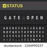 analog flip board showing... | Shutterstock .eps vector #1204990237