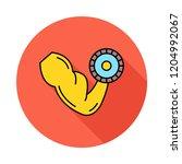 bicep  dumbbell   gym  | Shutterstock .eps vector #1204992067