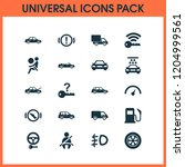 automobile icons set with... | Shutterstock .eps vector #1204999561