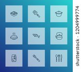 culinary icons line style set... | Shutterstock .eps vector #1204999774