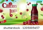 cherry juice with bokeh... | Shutterstock .eps vector #1205005657