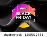black friday sale poster design ... | Shutterstock .eps vector #1205011951