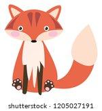 cute cartoon fox | Shutterstock .eps vector #1205027191