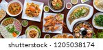 Food. Set Of Dishes On The...