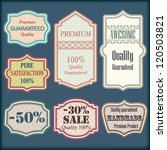 collection of retro premium... | Shutterstock .eps vector #120503821