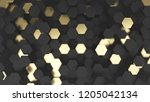 abstract background with black... | Shutterstock . vector #1205042134