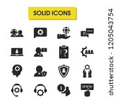 service icons set with click to ... | Shutterstock .eps vector #1205043754