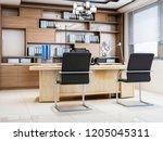 3d rendering company boss office   Shutterstock . vector #1205045311