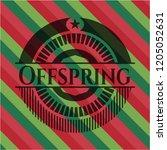offspring christmas style badge.... | Shutterstock .eps vector #1205052631
