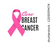 cure breast cancer awareness... | Shutterstock .eps vector #1205059474