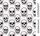 hand drawn seamless pattern of... | Shutterstock .eps vector #1205062837