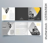 brochure design  brochure... | Shutterstock .eps vector #1205065834