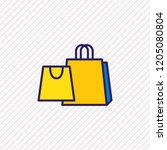 illustration of shopping icon... | Shutterstock . vector #1205080804