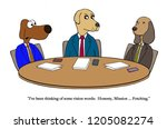 dog partner thinks of vision... | Shutterstock . vector #1205082274