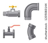 vector illustration of pipe and ...   Shutterstock .eps vector #1205083144