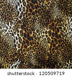 Small photo of Leopard skin seamless background