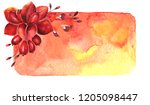 autumn composition with berries ... | Shutterstock . vector #1205098447
