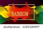 rainbow fluid background.... | Shutterstock .eps vector #1205100997