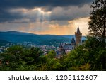 castle wernigerode in the harz... | Shutterstock . vector #1205112607