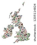 mosaic map of great britain and ...   Shutterstock .eps vector #1205114824