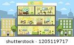 travel agency building interior ... | Shutterstock . vector #1205119717