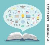 education concept illustration... | Shutterstock . vector #1205121691