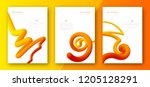 creative colorful cover set.... | Shutterstock .eps vector #1205128291