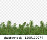 christmas vector decorations.... | Shutterstock .eps vector #1205130274