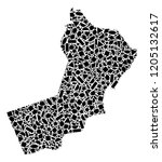 mosaic map of yemen composed...   Shutterstock .eps vector #1205132617