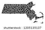 mosaic map of massachusetts...   Shutterstock .eps vector #1205135137