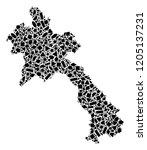 mosaic map of laos designed...   Shutterstock .eps vector #1205137231
