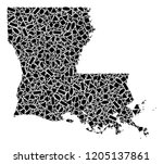 mosaic map of louisiana state...   Shutterstock .eps vector #1205137861