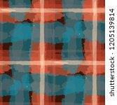 plaid. seamless grunge... | Shutterstock .eps vector #1205139814
