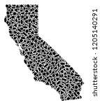 mosaic map of california...   Shutterstock .eps vector #1205140291