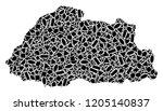 mosaic map of bhutan formed...   Shutterstock .eps vector #1205140837