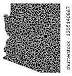 mosaic map of arizona state...   Shutterstock .eps vector #1205140867