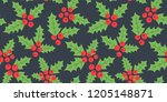 endless christmas pattern.... | Shutterstock .eps vector #1205148871