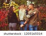 relationship concept tree... | Shutterstock . vector #1205165314