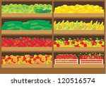 vegetable and fruit shop. vector | Shutterstock .eps vector #120516574