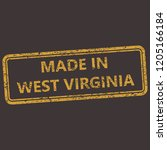 west virginia rubber stamp with ... | Shutterstock .eps vector #1205166184