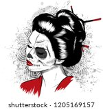 vector black and white image of ...