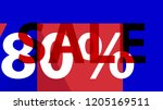 special sale banner or sale... | Shutterstock .eps vector #1205169511