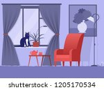 vector image of the interior of ... | Shutterstock .eps vector #1205170534