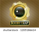 gold emblem or badge with...   Shutterstock .eps vector #1205186614