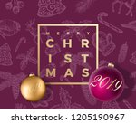 merry christmas abstract vector ... | Shutterstock .eps vector #1205190967