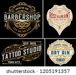 vintage logos organized by... | Shutterstock .eps vector #1205191357