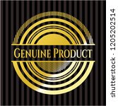 genuine product gold badge or... | Shutterstock .eps vector #1205202514