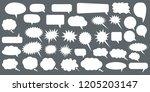 set of speech bubbles. blank... | Shutterstock .eps vector #1205203147